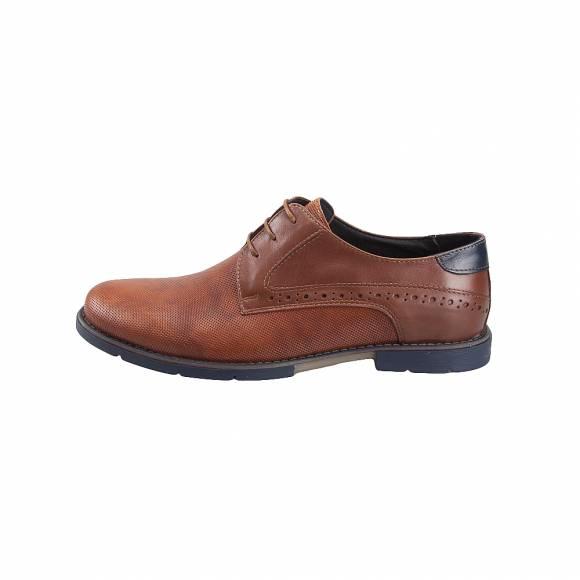 Ανδρικά παπούτσια Δερμάτινα Δετά Verraros 333 Cognac
