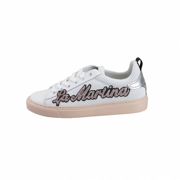 Γυναικεία Δερμάτινα Sneakers La Martina L7103125 Baltimora Bianco st183