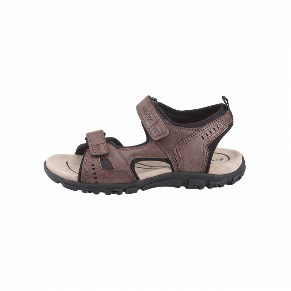 Geox U4224A 000ME C6009 Uomo sandal Strda wax synt leather Coffee sandals