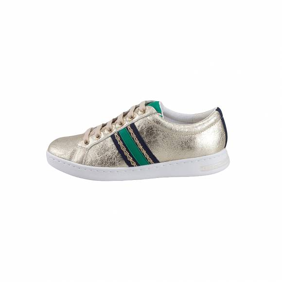 Γυναικεία Δερμάτινα Sneakers Geox D921BA OVIBC C2L3Q Jaysen met suede synthetic leather Lt Gold sneakers
