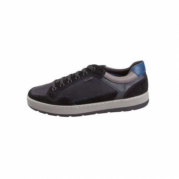 Ανδρικά Δερμάτινα Sneakers Geox Ariam U945QB OME22 C9999 Black