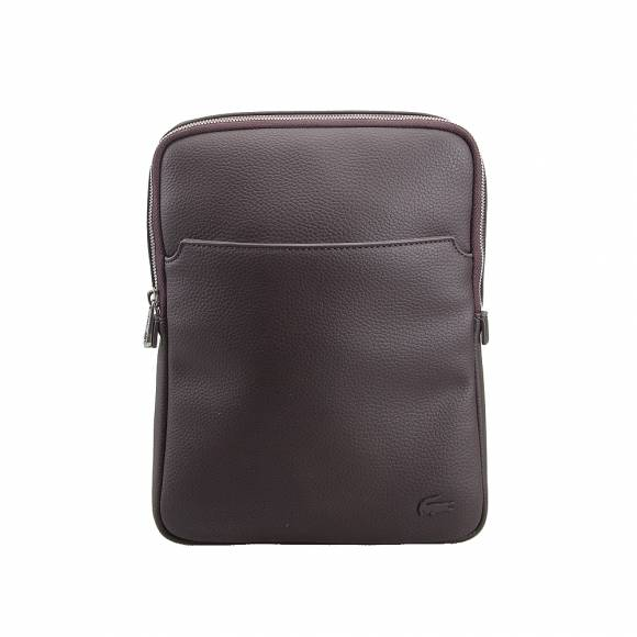 Ανδρικό Τσαντάκι Lacoste NH1741GL 047 Chocolate Brown M Flat crossover bag