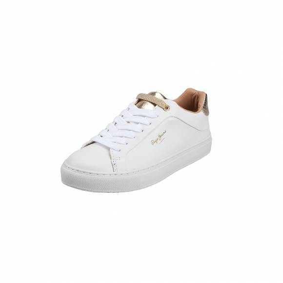 Γυναικεία Δερμάτινα Sneakers Pepe Jeans PLS30853 800 Adams Premioum White