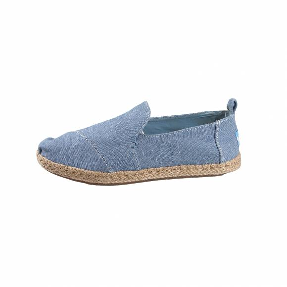 Γυναικείες Εσπαντρίγιες Toms deconstructed alpargata blue slub chambray 10009835