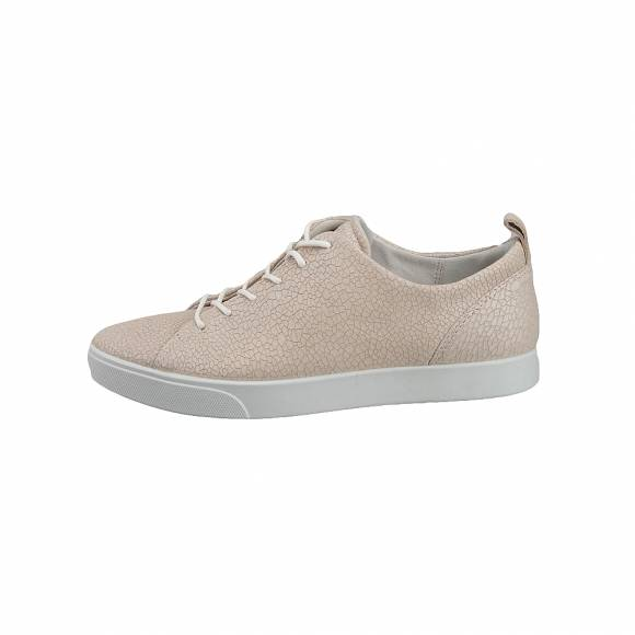 Γυναικεία Δερμάτινα Sneakers Ecco Gillian 285633 51384 Ice white metallic