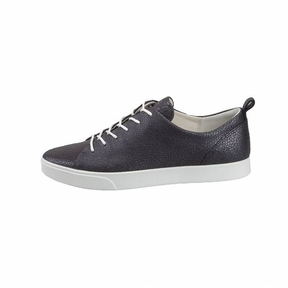 Γυναικεία Δερμάτινα Sneakers Ecco Gillian 285633 51383 Black Dark Shadow Metallic