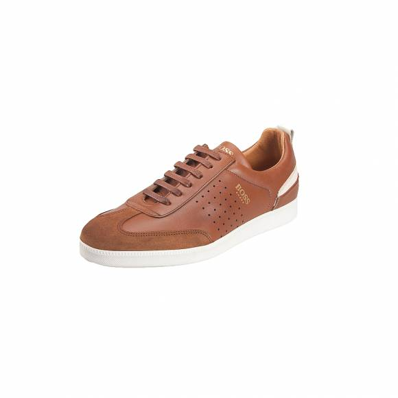 Ανδρικά Δερμάτινα Sneakers Boss shoes L AREZZO Tabba Burn