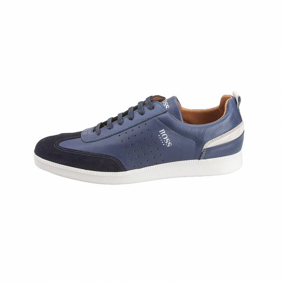 Ανδρικά Δερμάτινα Sneakers Boss shoes L AREZZO Blue Burn