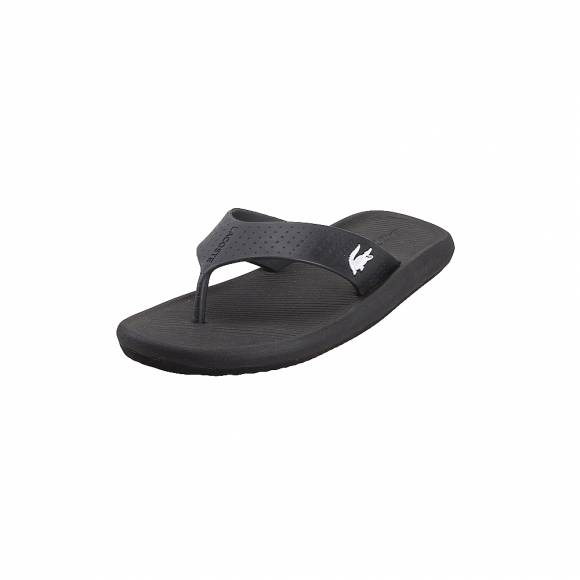 Lacoste Croco Sandal 219 1 CMA 7 37CAM0015312 Black White Synthetic