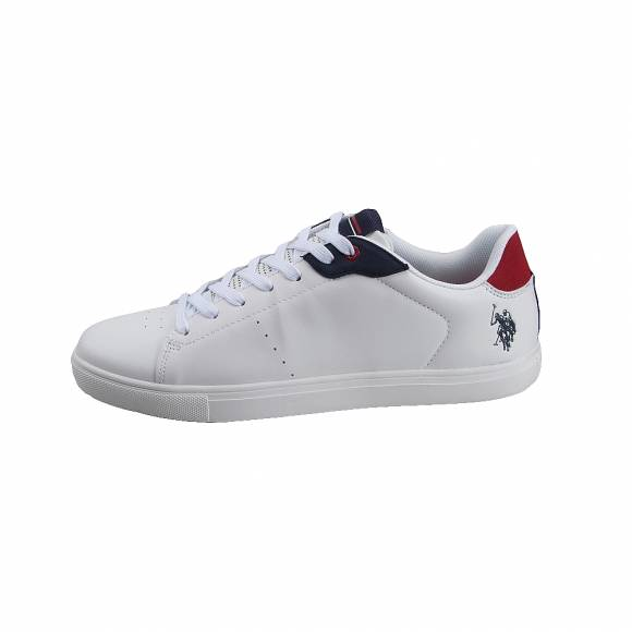 Ανδρικά Δερμάτινα Sneakers Us Polo Assn Jado Whi Red Jarden 4051S9 Y1