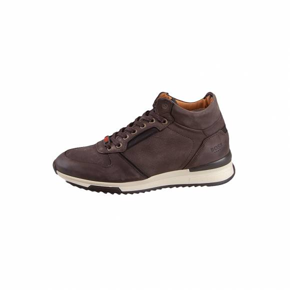 Ανδρικά Δερμάτινα Sneakers Boss shoes M25290 Brown nubuck