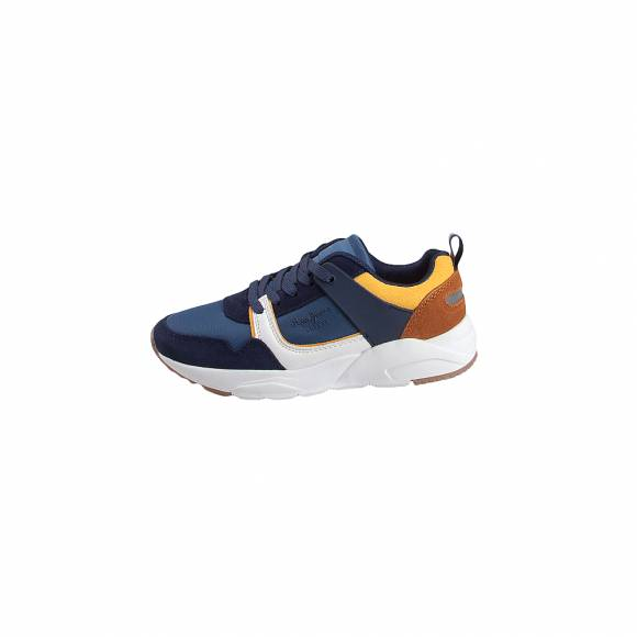 Παιδικά Δερμάτινα Sneakers Pepe Jeans PBS30417 595 David Combi Navy