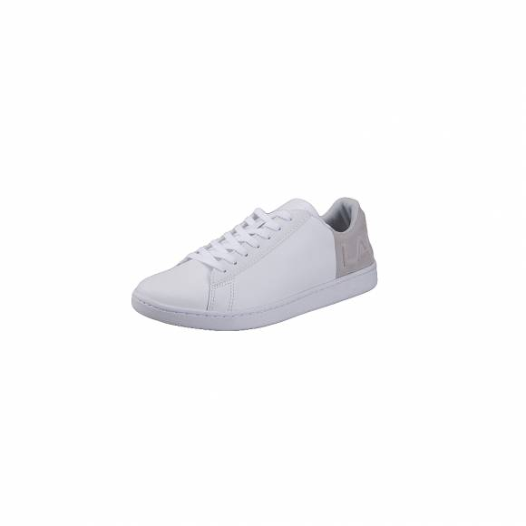 Lacoste Carnaby evo 318 3 SPW WHT LT GRY LEATHER SUEDE 7 36SPW01114X