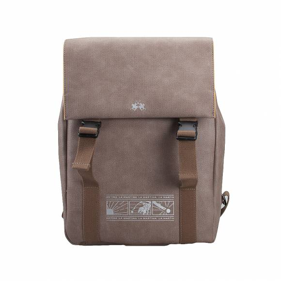 Ανδρικό Backpack La Martina Backpack with flap ignacio 41M181 N0019 04015 Sand