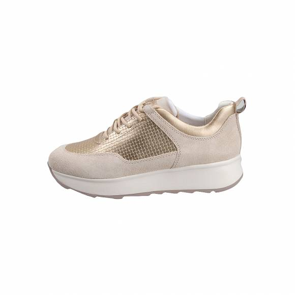 Geox 925TB 022QU C5002 Gendry Suede Woven synth Cream sneakers
