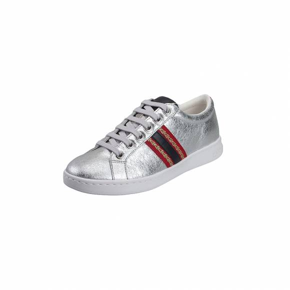 Geox D921BA 0VIBC C0668 Jaysen met Suede Synth Leather Silver Navy Sneakers
