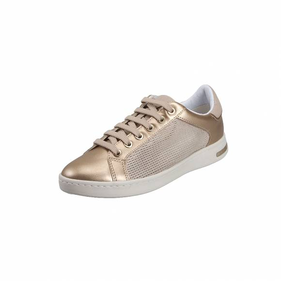 Geox D821BA OLYNF CB52X Jaysen Met Text Pearl Synth Champagne Gold sneakers