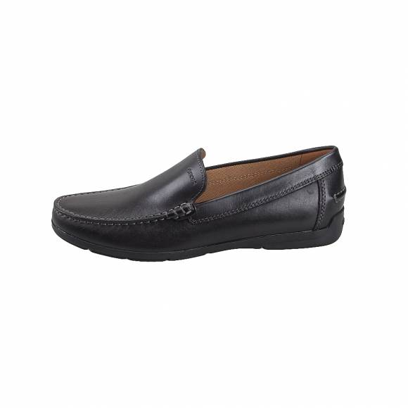 Geox U32Q3A 00043 C9999 Siron smo leather Black mocassins