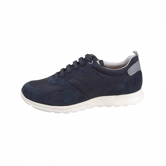 395afb3cc75 ... Ανδρικά Δερμάτινα Sneakers Geox U920HA 02214 C4002 Damian suede mesh Navy  sneakers
