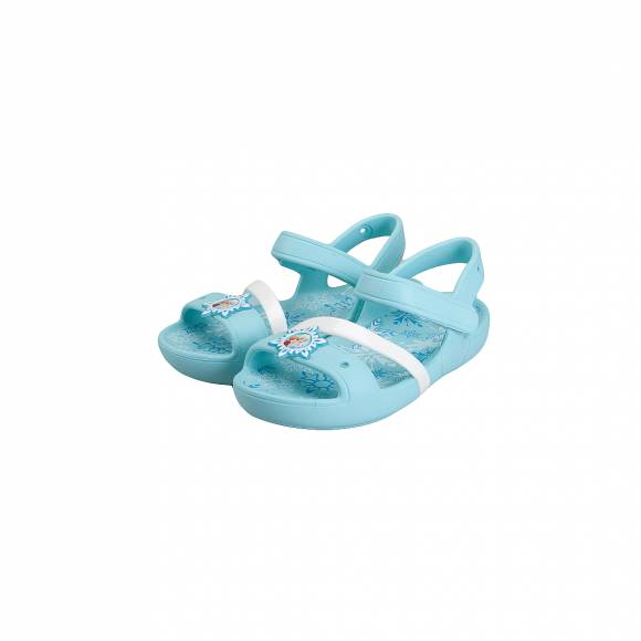 CROCS 205016 409 LINA FROZEN SANDAL K ICE BLUE RELAXED FIT