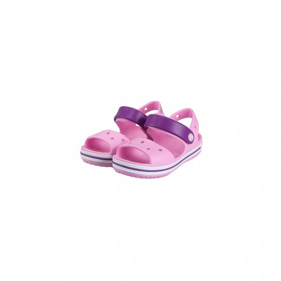 CROCS 12856-6AI CROCBAND SANDAL KIDS CARNATION AMETHYST RELAXED FIT
