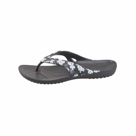 Γυναικείες Σαγιονάρες Crocs Kadee 205635 98F ii seasonal flip w tropical Floral black Relaxed fit