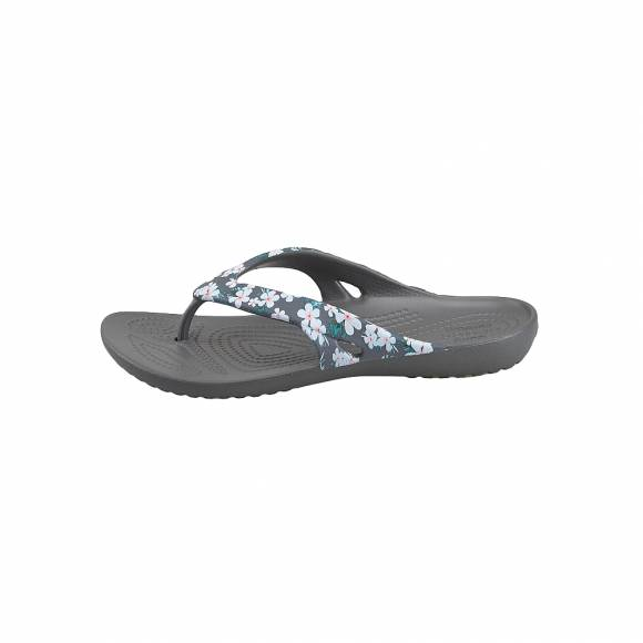 Γυναικείες Σαγιονάρες Crocs Kadee 205635 98G ii seasonal flip w tropical Floral slate Grey Relaxed fit