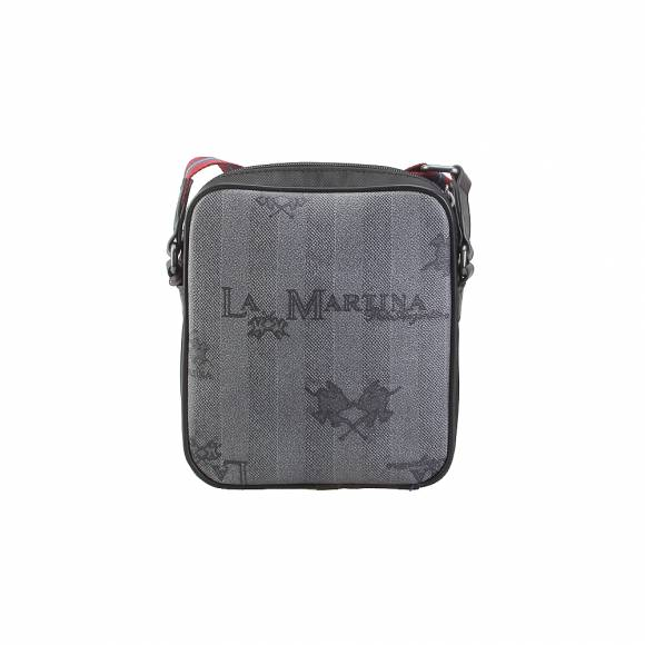 1435591e72 Ανδρικό τσαντάκι ώμου La Martina 41M081 M0017 Man Body Bag Reconquista Man  F9101 Black Paloma number ...