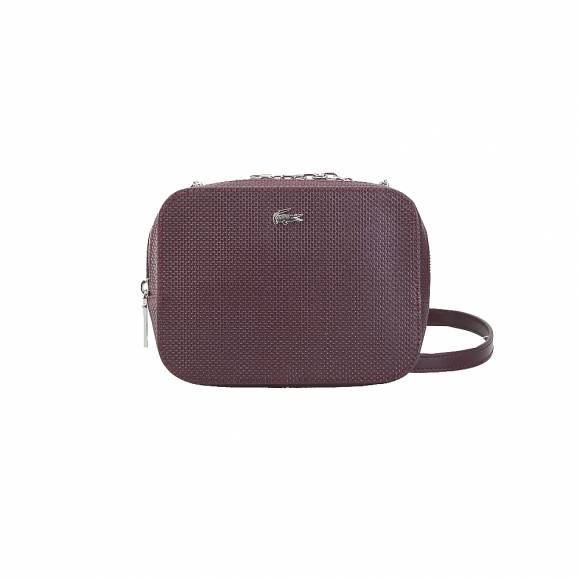 Lacoste Nf2573XC 972 Winetasting XS Square Crossover Bag Split Cow Leather