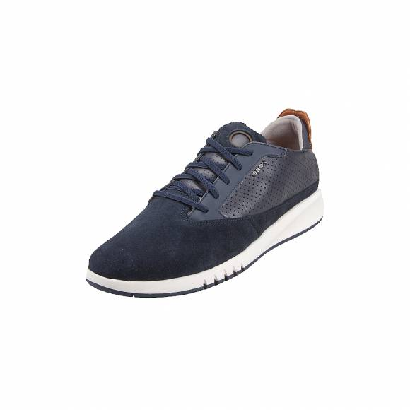 Geox U927FA 02243 C4002 Aerantis suede smooth leather Navy sneakers