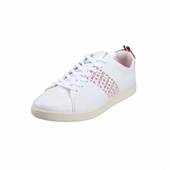 Ανδρικά Δερμάτινα Sneakers Lacoste Carnaby Evo 119 9 Us Sma Wht Red Leather 7 37SMA004286