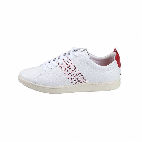 Ανδρικά Δερμάτινα Sneakers Lacoste Carnaby Evo 119 9 Us Sma Wht Red Leather 7 37SMA0014286