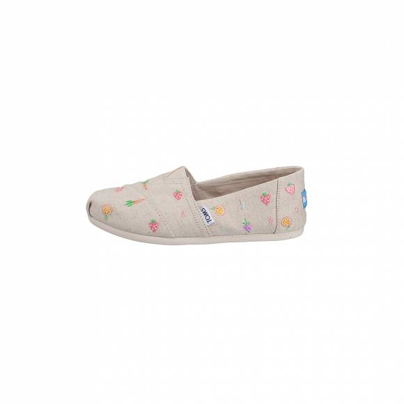 TOMS CLASSIC NATURAL FARMERS MARKET EMBROIDERY 10011660
