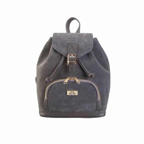 Four Knot 1030018 small Grey suede backpack