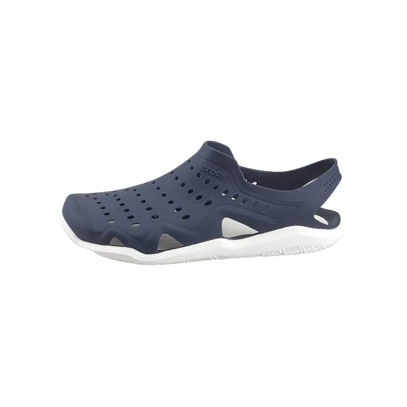 Ανδρικά Clog CROCS 203963-462 SWIFTWATER WAVE M NAVY WHITE STANDARD FIT