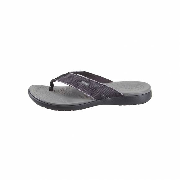 Ανδρικές Σαγιονάρες Crocs Santa Cruz 205612 0DD Canvas Flip m Black Slate Grey Relaxed Fit