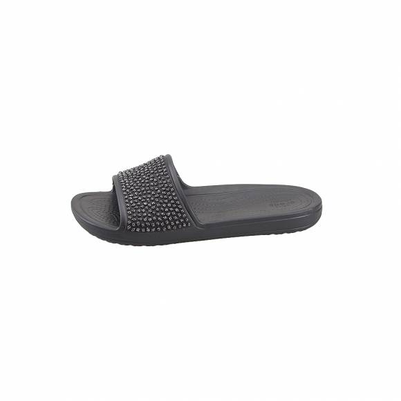 Γυναικείες Σαγιονάρες Crocs Sloane 204691 060 Embellished Slide Black Balck Standard Fit