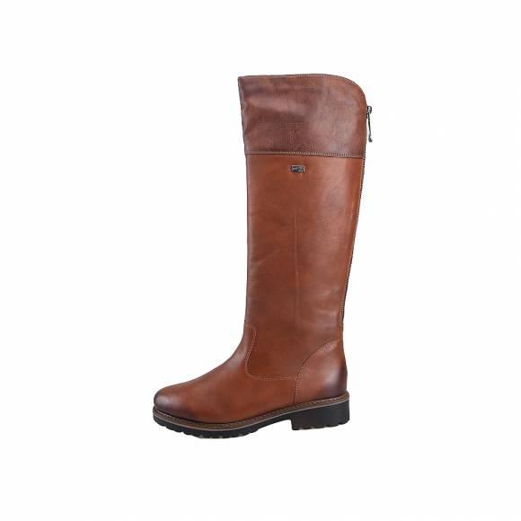 Γυναικείες Δερμάτινες Μπότες Rieker R6581 22 Brown Remote