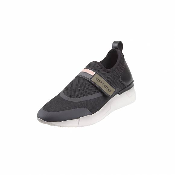 Γυναικεία Δερμάτινα Sneakers Hispanitas Sock V9 Black Piso White HV98726