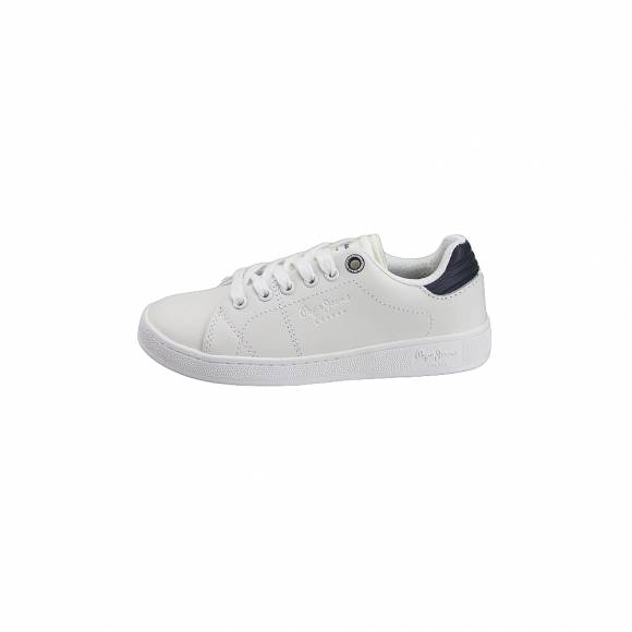 Παιδικά Δερμάτινα Sneakers Pepe Jeans PBS30388 800 Brompton Basic Boy White