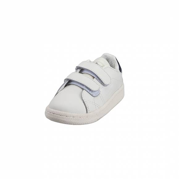 Παιδικά Δερμάτινα Sneakers Pepe Jeans PBS30401 800 Brompton Basic Kids White