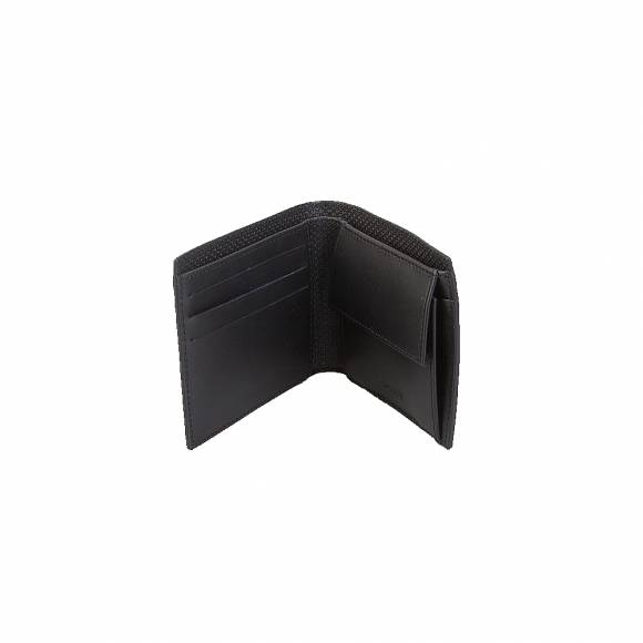 Lacoste NH2641CE M Billfold coin box split cow leather 000 black