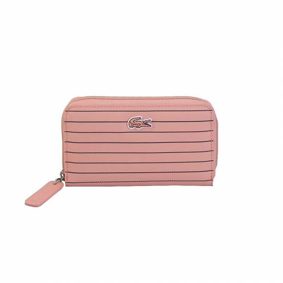 Lacoste NF2805CF M Zip Wallet Pvc C21 Mellow Rose Peacoat