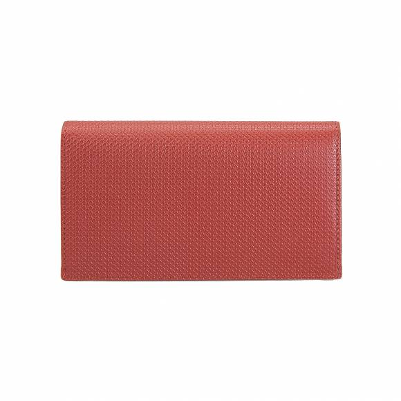 Lacoste NF2738CE Slim Wallet CC Holder Split cow Leather 137 Burnt Henna