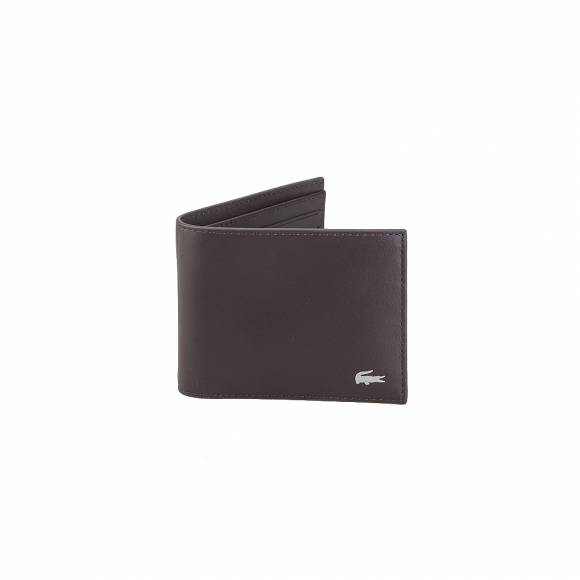 Lacoste NH1115FG S Billfold Cow Leather 028 Dark Brown