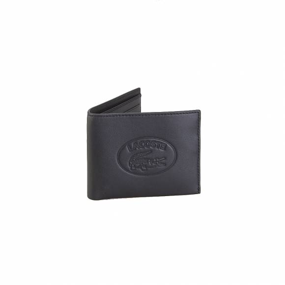 Lacoste NH2506FG S Billfold Box Cow Leathe r000 Black
