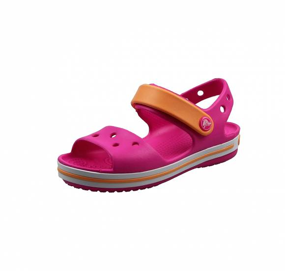 Παιδικά Σανδάλια Crocs 12856 6QZ Crocband Sandal kids Electric Pink Cantalupe relaxed fit