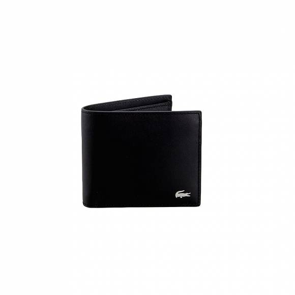 Lacoste NH1112FG 000 Black M billfold coin cow leather
