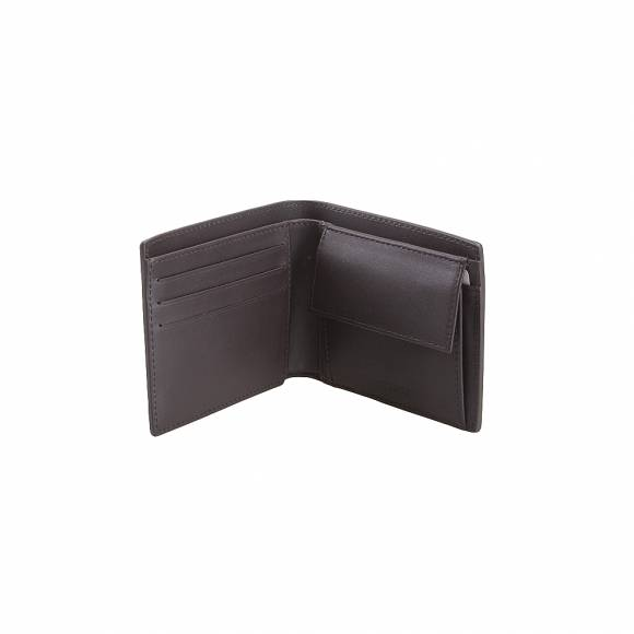 Lacoste NH1112FG 028 Dark Brown M billfold coin cow leather