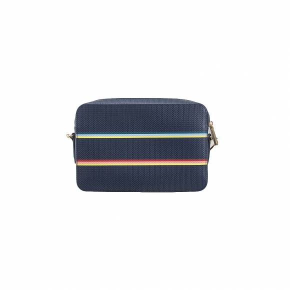 Lacoste NF2741CQ Strip multico Peacoat square crossover bag split cow leather